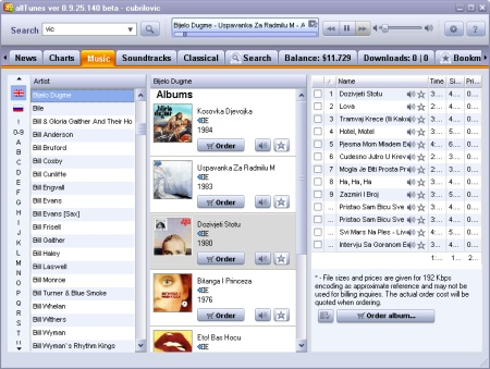 alltunes screenshot