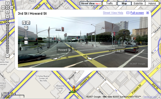Maps 360.Google Maps Now With 360 Streetside Views Techcrunch