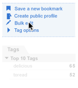 bookmarks dropdown