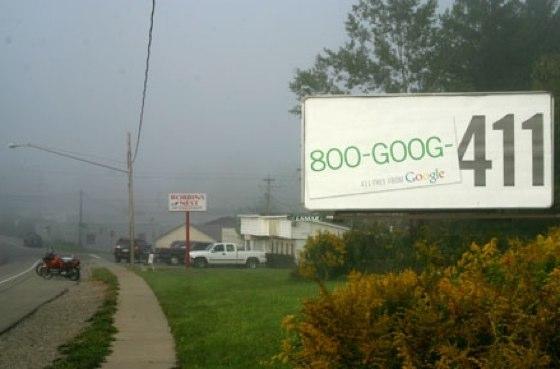 Google Promotes 411 Service On Billboards | TechCrunch