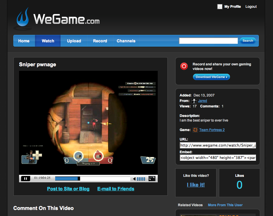 WeGame Launches As YouTube For Gamers | TechCrunch