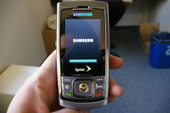 hands on with the samsung m520 for sprint techcrunch rh techcrunch com Sprint PCS 1990 Samsung Phones Sprint M520