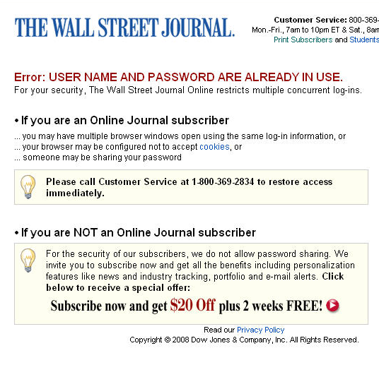 Why Does the Wall Street Journal Hate the Web? | TechCrunch