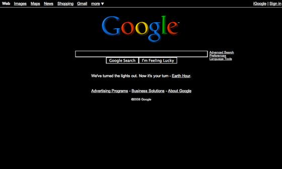 Black google page