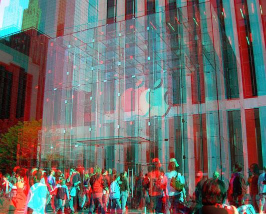 apple store 3d stereo