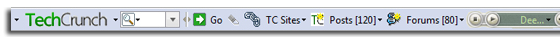 TechCrunch toolbar powered by Conduit