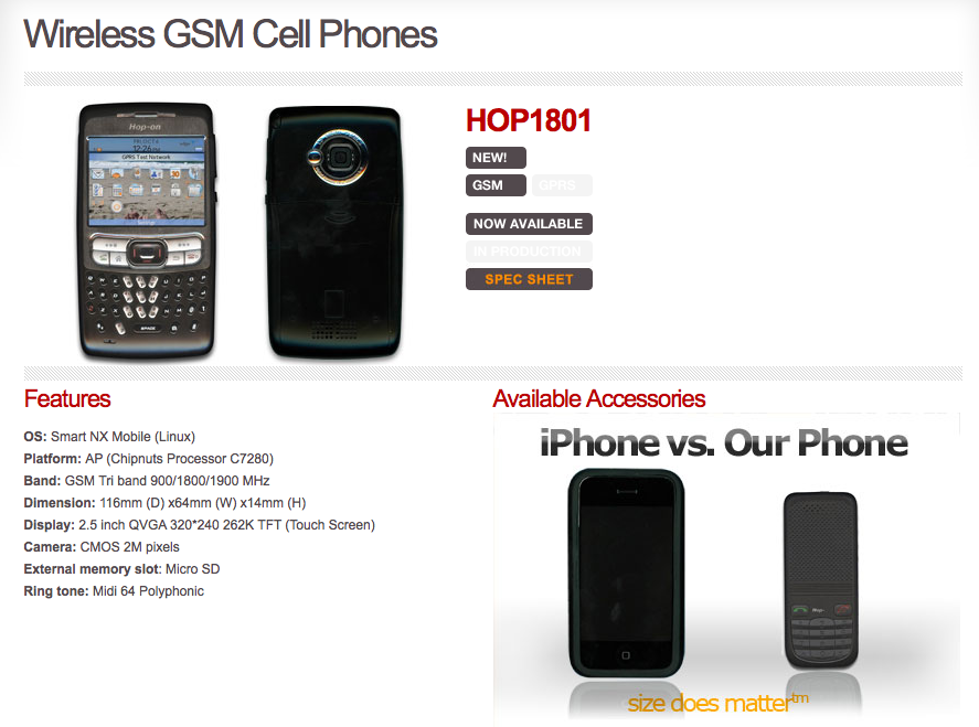 Hop-On announces $125 smartphone, dirt cheap 3G phone and GSM phones