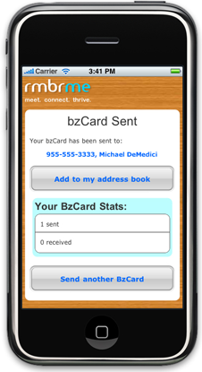 We need to kill the business card once and for all techcrunch the service uses standard sms or a web app to initiate the transfer of contact information reheart Gallery