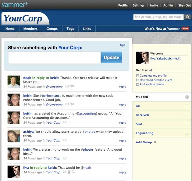 Yammer To Add Groups, Tags and Threaded Comments   TechCrunch