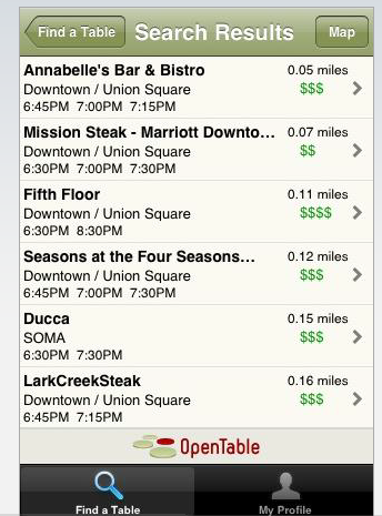 OpenTable Reservations Come To The IPhone TechCrunch - What is open table reservation