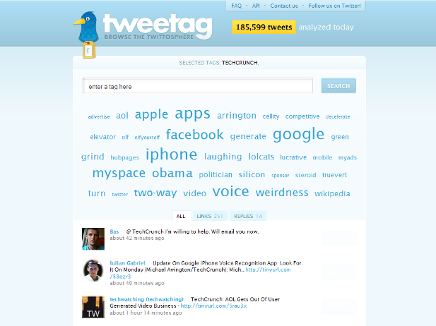 Tweetag: Tag-Based Search For Twitter | Artificial