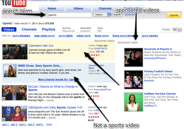 More Sex Videos For Everyone Youtube Sells Video Search Results To The Highest Bidder