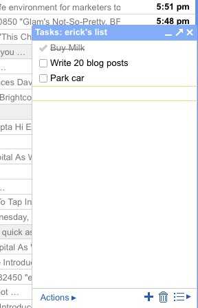 gmail finally gets a to do list techcrunch