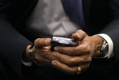 Obama and the Blackberry Source: TechCrunch