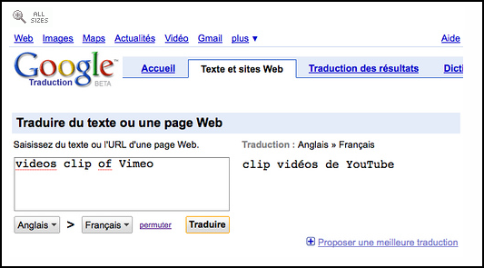 google needs french lessons  translates  u0026quot vimeo u0026quot  to