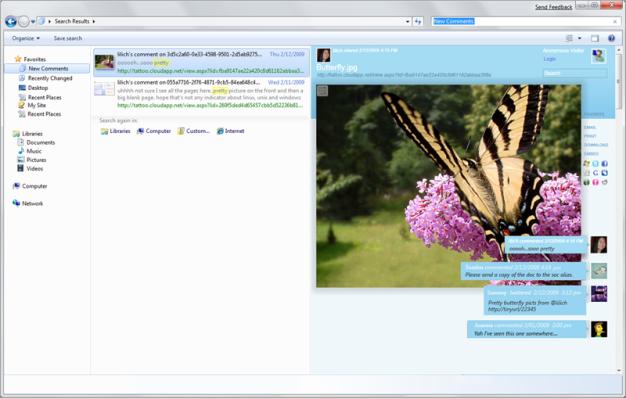 Social Desktop: web sharing model in the destkop