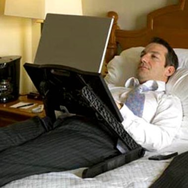 Laptop Desk Allows For In Bed Computing, In Bed Desk