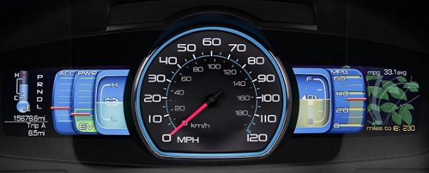 Video: The 2010 Ford Fusion Hybrid's instrument cluster | TechCrunch