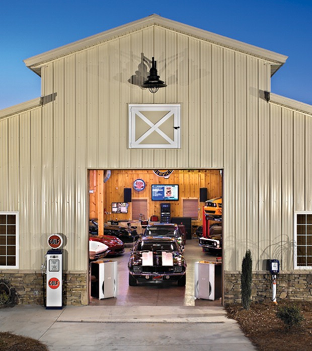 Garage Design Cool Garages: Man Installs 6,400-watt Sound System In Garage, Subwoofers
