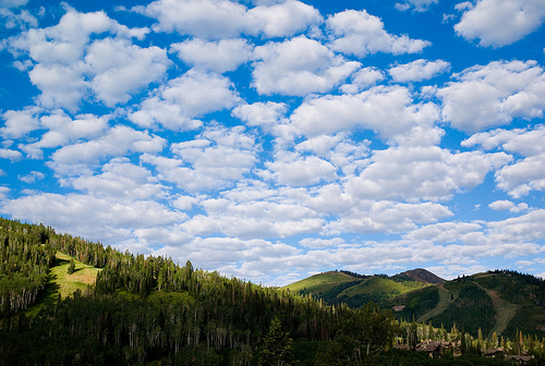 Happy Clouds over Park City, by joi