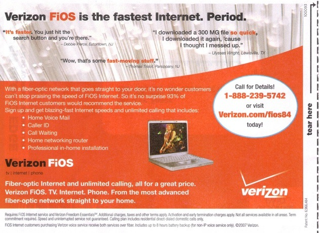 Verizon calls out Cablevision over 'fastest broadband in
