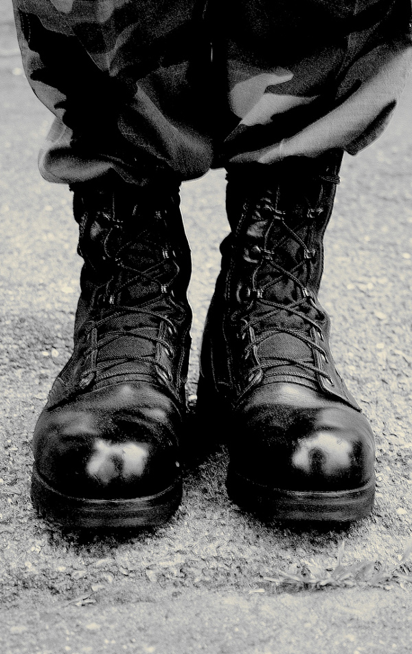 Free Black Combat Boots Creative Commons by D Sharon Pruitt