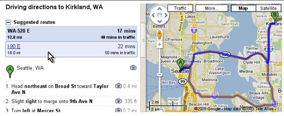 Google Maps Now Suggests Alternate Routes | TechCrunch on amazon fire phone maps, gogole maps, road map usa states maps, online maps, topographic maps, bing maps, android maps, iphone maps, stanford university maps, search maps, ipad maps, googie maps, googlr maps, goolge maps, waze maps, msn maps, aerial maps, microsoft maps, gppgle maps, aeronautical maps,