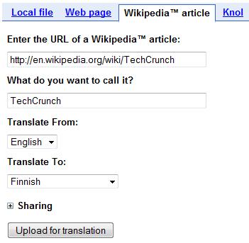 Google Translator Kit: Automated Translation Meets