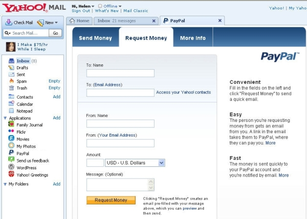 Yahoo Mail, Now With Extra Apps: PayPal, Picnik, Zumo Drive and