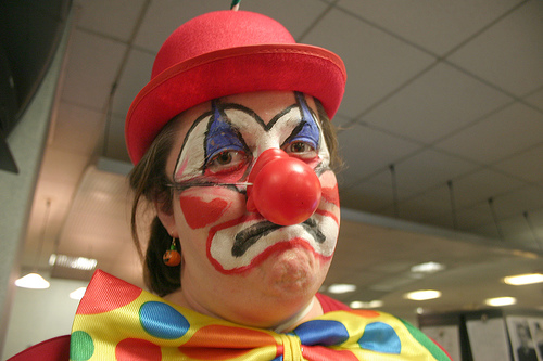 Sad Clown, by Mel B.