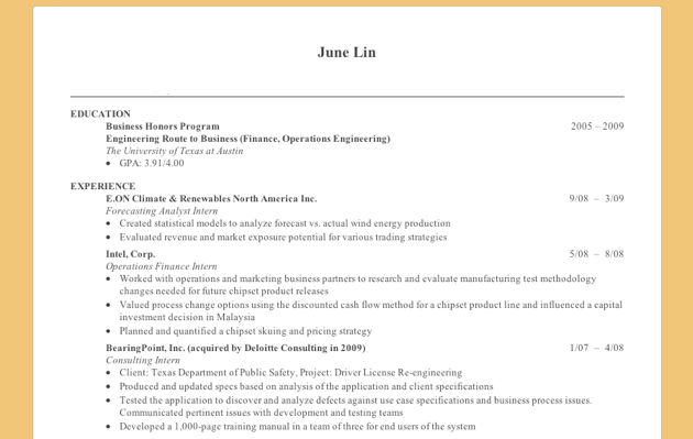 YC Funded JobSpice Makes Resumes Web Friendly, With A Facebook Co Founder  At The Helm  Best Looking Resumes