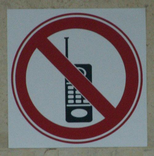 no cellphones!