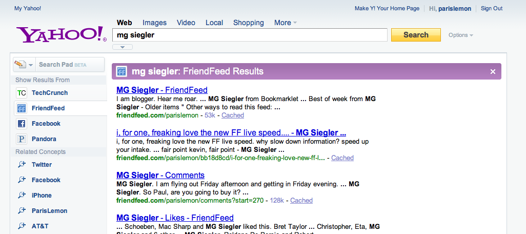 What matters most to yahoo is taking away people search from screen shot 2009 08 24 at 11132 pm ccuart Choice Image