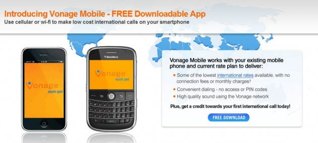 Vonage Mobile released for iPhone and BlackBerry   TechCrunch