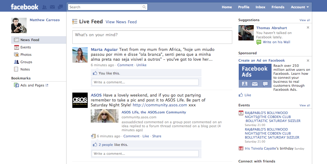 Shots Of Facebook's Upcoming Redesign In The Wild, With A