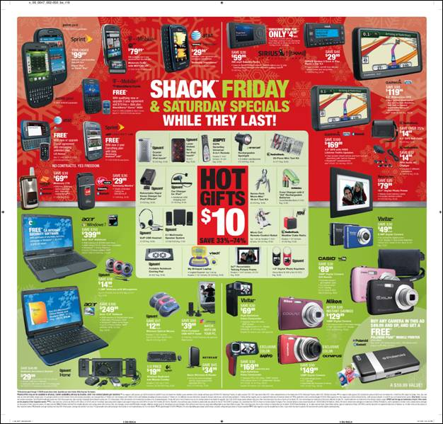 Radio Shack Black Friday ad | TechCrunch