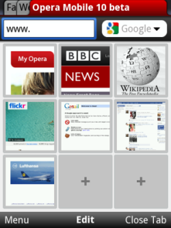 Opera Mobile 10 Beta Now Available For Windows Mobile Phones