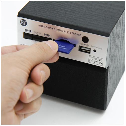 Retro Cube mini Speaker with MP3 Player_2