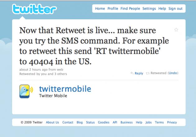 Twitter's New Retweets Work Via SMS Too   TechCrunch
