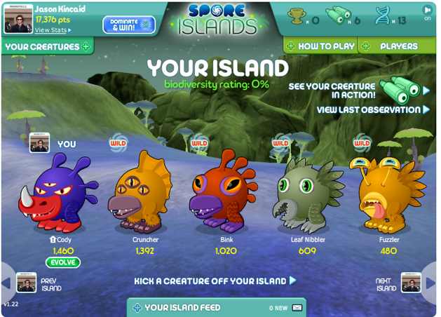 ea s spore evolves once more launches on facebook techcrunch