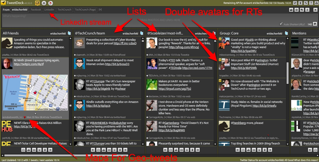 The New TweetDeck Goes List Crazy And Adds Maps To GeoTweets