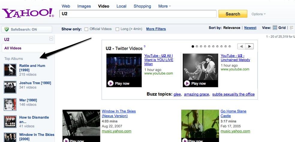 Google Has Music Search Yahoo Responds By Searching Youtube For Music Videos Techcrunch