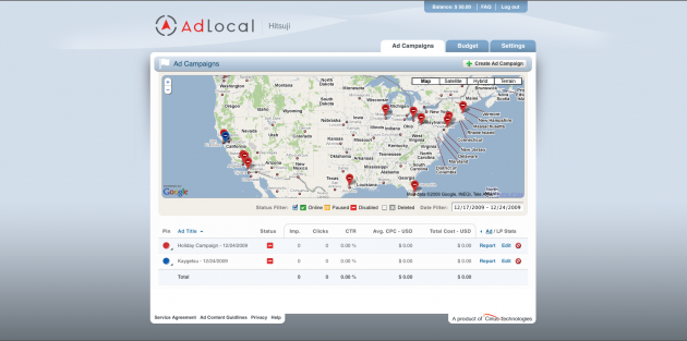 AdLocal Campaign View