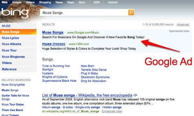 Google Music Pays For Listeners On Bing | TechCrunch
