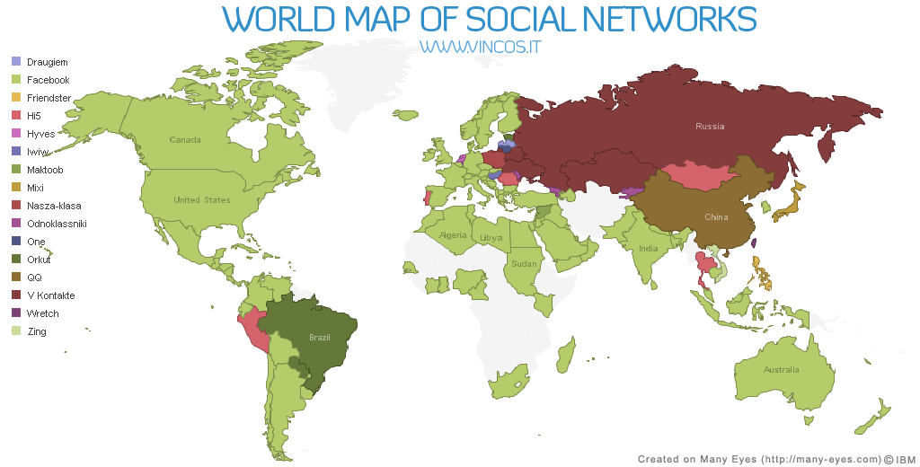 World Map Of Social Networks Shows Rise Of Facebook TechCrunch