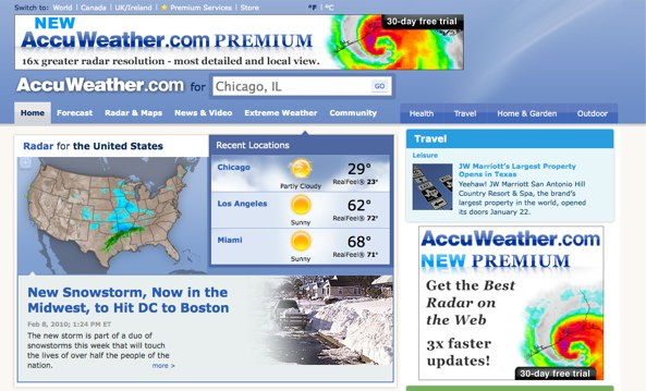Winter Weather Storm Watch Gets Streamlined On New Accuweather Site
