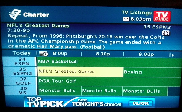 Can whoever is writing Charter's cable guide stop spoiling