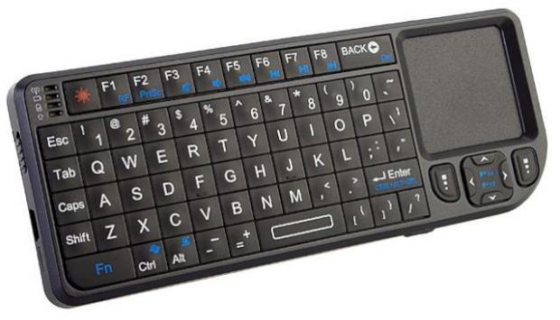 mini wireless keyboard with touchpad and laser pointer techcrunch. Black Bedroom Furniture Sets. Home Design Ideas