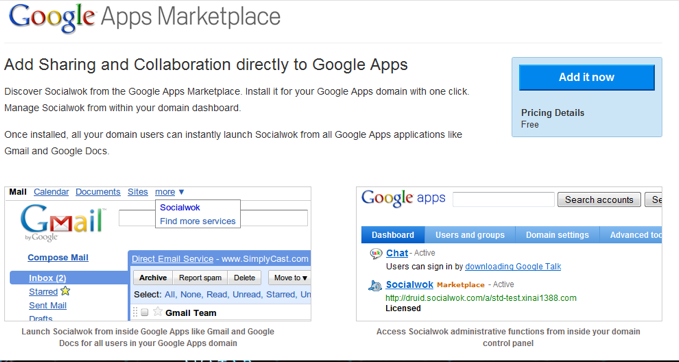 Socialwok Takes A Stroll In The Google Apps Marketplace