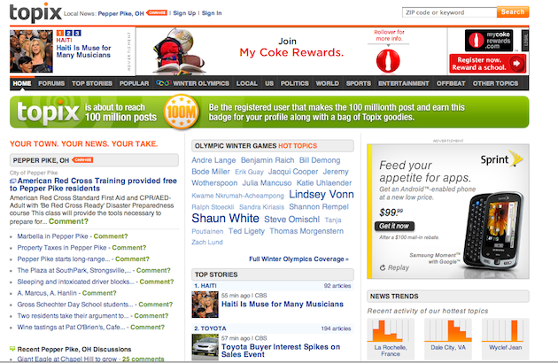 With 100 Million Comments Topix Has Quietly Become The Local Watering Hole Techcrunch